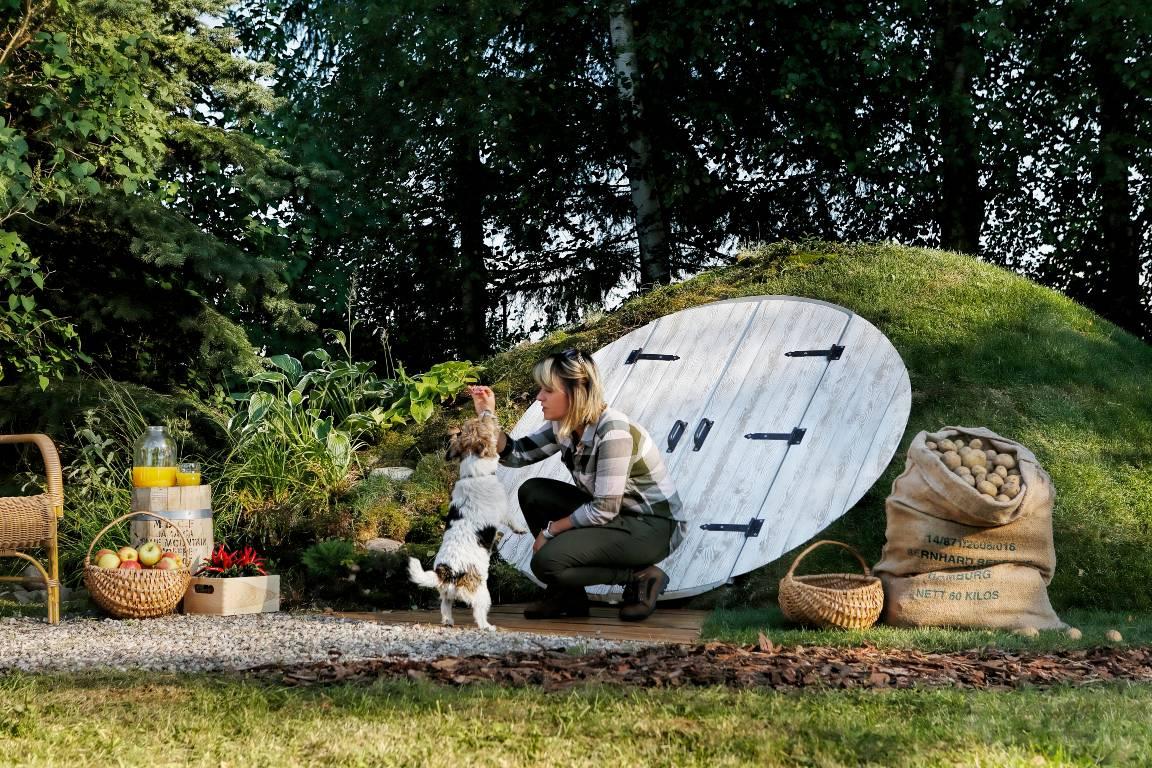 Nowoczesna piwnica ogrodowa z plastiku